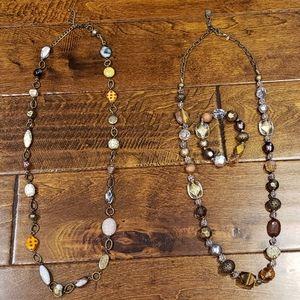 Premier Designs Set of 2 Necklaces and 1 Bracelet